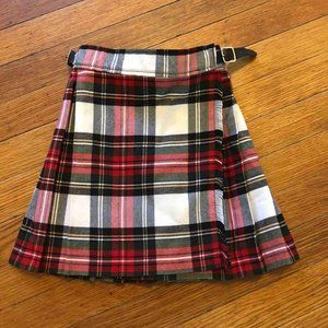 Glen Appin Of Scotland Kids Kilt Sz 4 Red Plaid